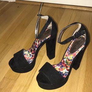 Madden Girl Black platform heels
